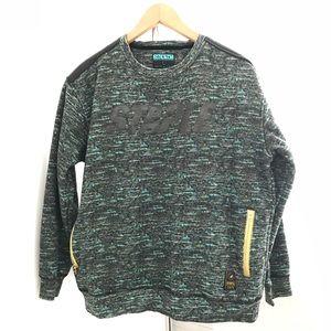 Staple Pigeon Brand Multi Colored Crewneck Sweater